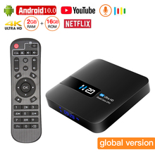 Android 10.0 TV Box 4K Youtube Netflix Quad Core 2GB 16GB H.265 Wifi 2.4G Media Player Smart TV Set Top Box IPTV Spain 2019 best stable media player smart tv box netflix youtube h96max max rk3318 android tv box 2 4 5 0g wifi h 265 tv set top box