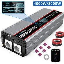 Onda Senoidal pura Potência Do Inversor 2000W 3000W 4000W 5000W 8000W 12V 24V Transformador de Tensão 220V DC 12V a 230V AC + Controle Remoto