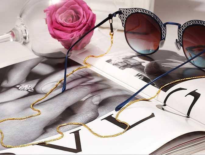 Minimalist tarzı siyah boncuk zincir gözlük zinciri kordon okuma gözlüğü zincirleri kadın aksesuarları güneş gözlüğü tutun sapanlar kordonlar
