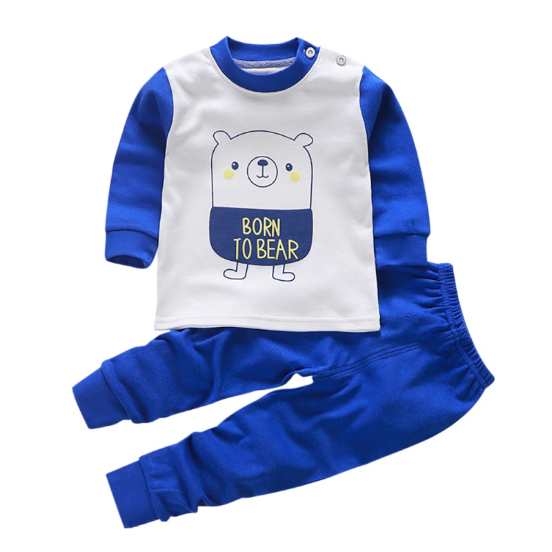 Autumn Baby Clothes Kids Girls Boys Cartoon Print Outfits   Set   Long Sleeve Blouse Tops+Pants Sleepwear   Pajamas