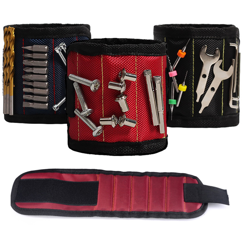 New 3 Colors Magnetic Wristband Hand Wraps Tool Bag Electrician Wrist Screws Holder Bracelet For Home Repair