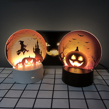 Scary Party Ghost Witch Pumpkin Led Light Halloween Party Halloween Decoration Zombie Party Terror Scary Props Hallow Supplies halloween costume party kurten demon zombie scary vampire mask