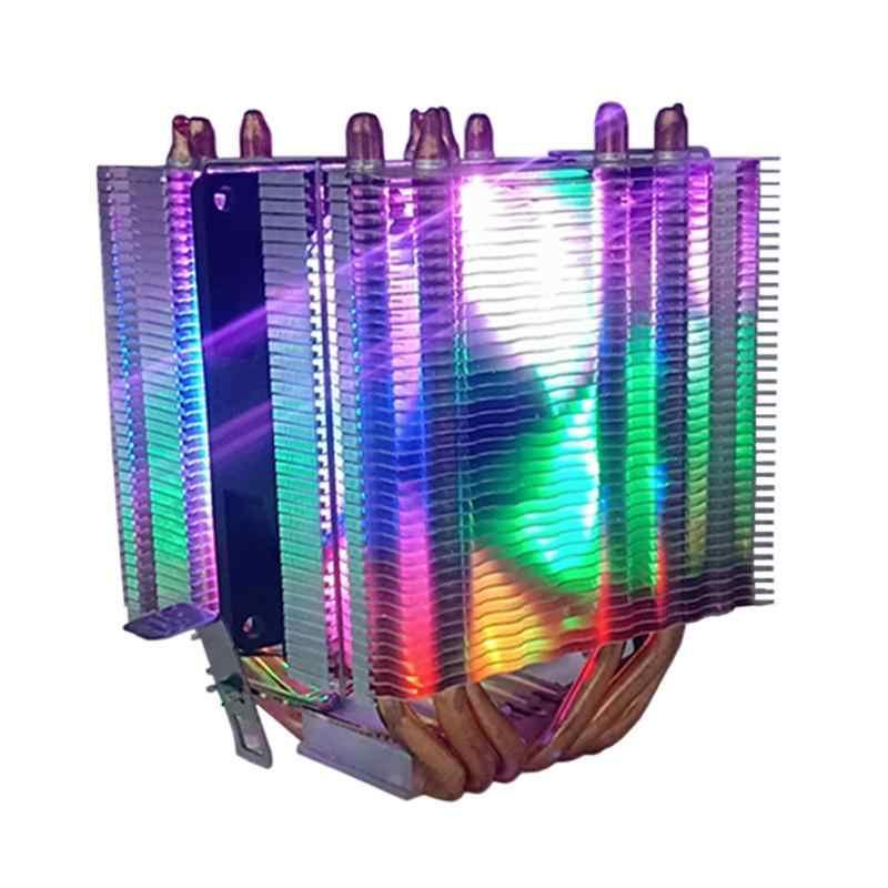 Kualitas Tinggi CPU Cooler 6 Heatpipe 3pin CPU Cooling Fan untuk Intel AMD LGA 775 1150 1151 1155 1156 1366 2011 AMD AM4 I3 I5 I7