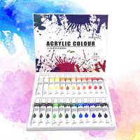 24 цвета, набор акриловых красок s 12 мл/туба, набор для нанесения краски на стену, набор для рисования художественной краски (без краски, Палет...