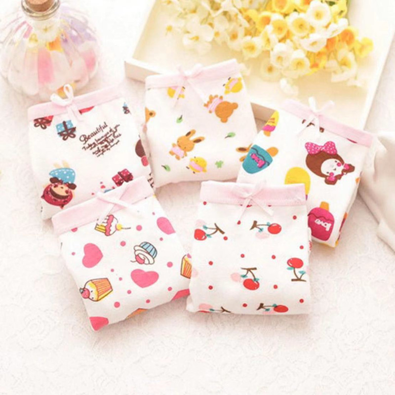 3Pcs/lot Girls Boxer Underwear  Baby Panties Girls Cotton Underpants Shorts  for 2-10 Years 5