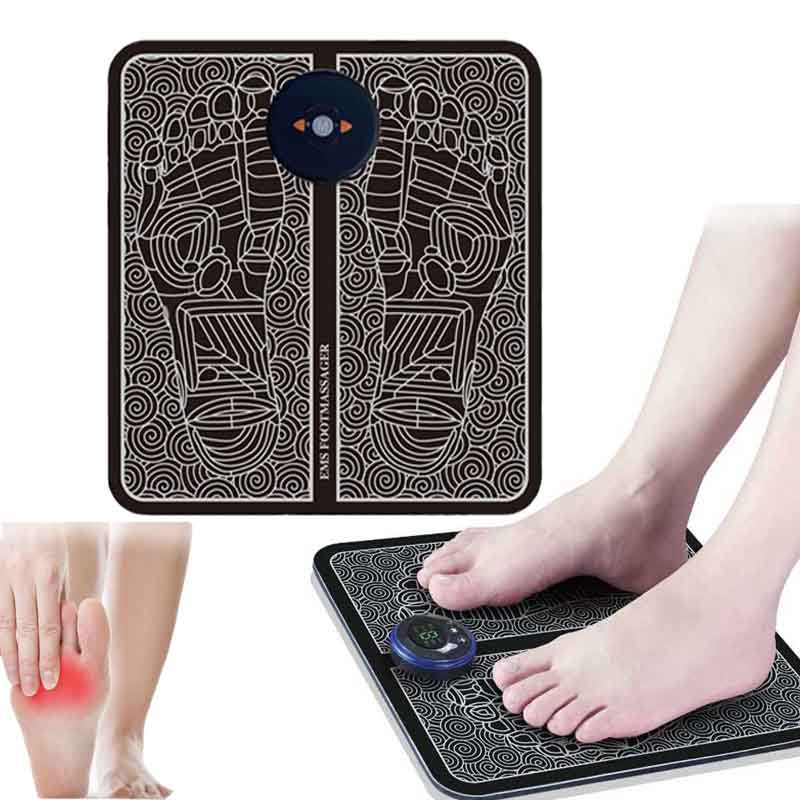Electric EMS Foot Massage Pad Feet Acupuncture Stimulator pulsemuscle Massager feet Massage Cushion usb foot care tool machine 1