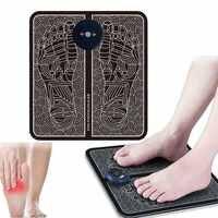 Electric EMS Foot Massage Pad Feet Acupuncture Stimulator pulse muscle Massager feet Massage Cushion usb foot care tool machine