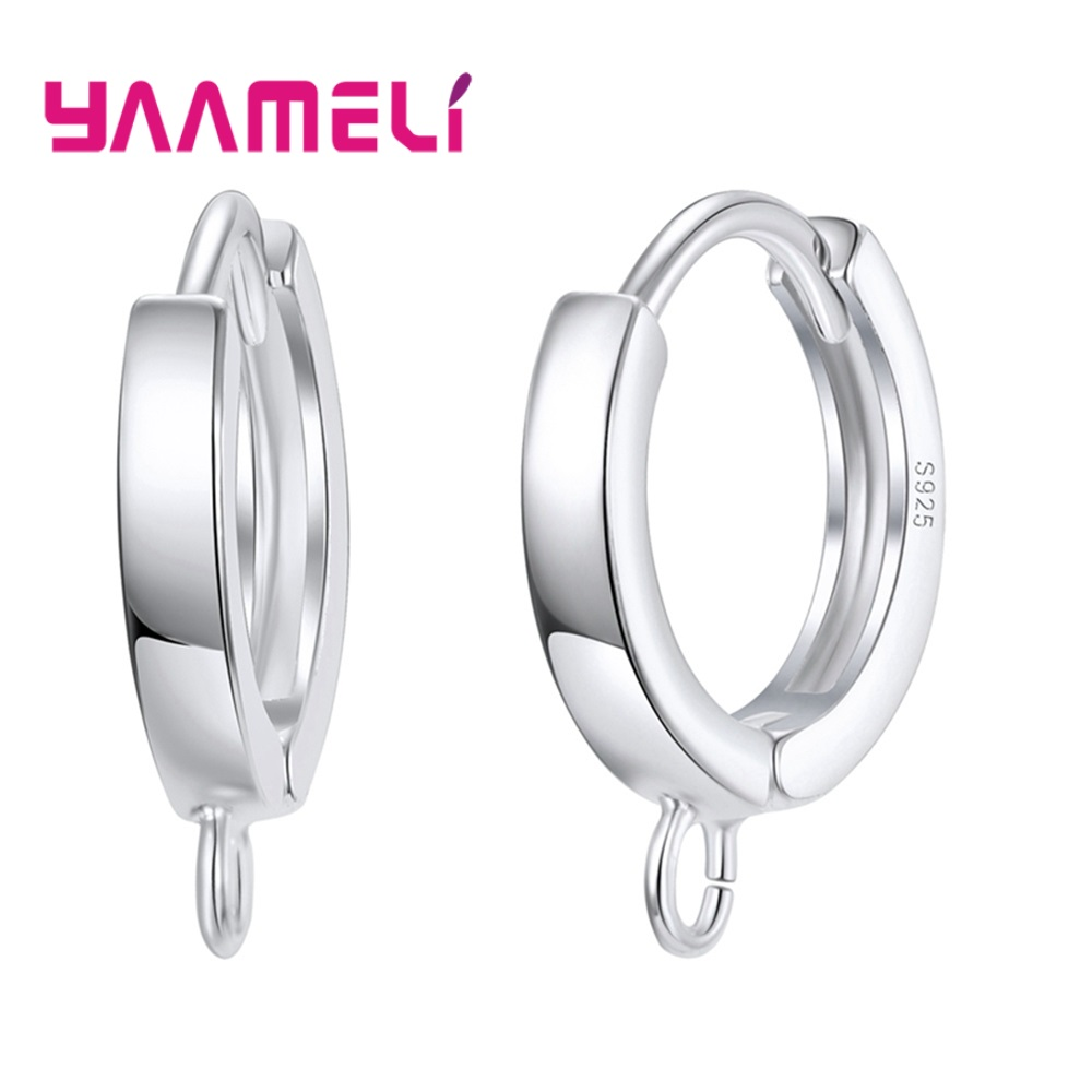 Crystal Hoop Earring 925 Sterling Silver Leverback Earwire Jewelry Making Hoops