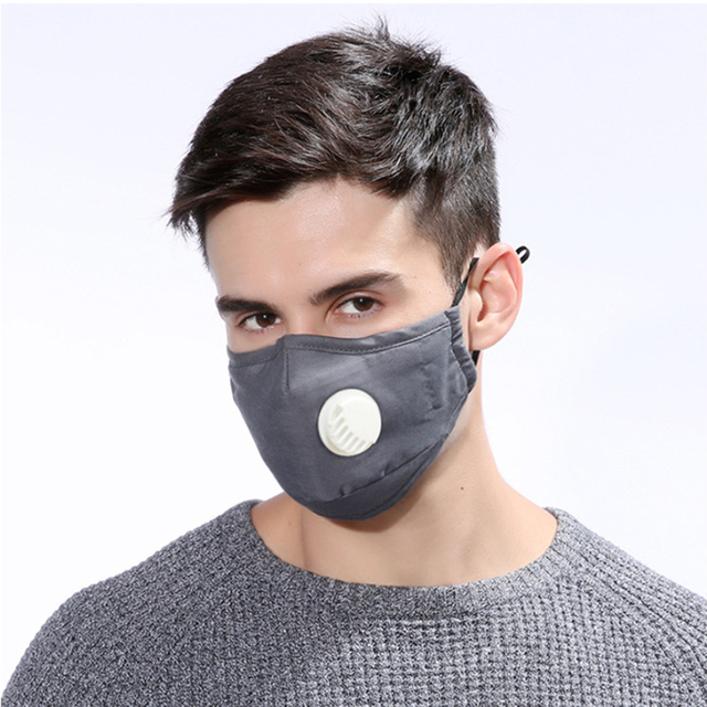 Security Pm2 .5 Anti Fog Mask Washable Anti Haze Mask Activated Filter Respirator Mouth Muffle 1