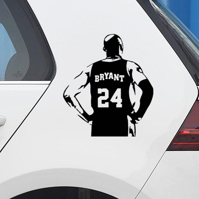 Car Stickers Basketball Kobe Bryant Back Creative Decoration Decals For Trunk Windshield Auto Tuning Styling Vinyls D30
