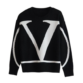 Sweater 2020 autumn winter high quality fashion women sweater large size round neck long sleeve letter women sweater OK150 цена 2017