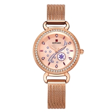 NEW Fashion Top Brand Ladies Quartz Watch Women Casual Dress Wristwatch Rhinestone Bracelet Watch Rhinestone Relogio Feminino