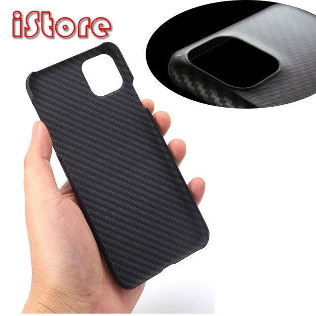 Apple11 iPhone 11 Pro 용 탄소 섬유 전화 케이스 보호 max 얇고 가벼운 특성 Aramid 섬유 소재