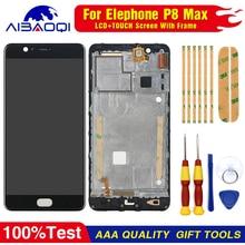 جديد الأصلي ل Elephone P8 ماكس شاشة تعمل باللمس LCD شاشة عرض LCD محول الأرقام الجمعية مع الإطار استبدال أجزاء 5.5 بوصة