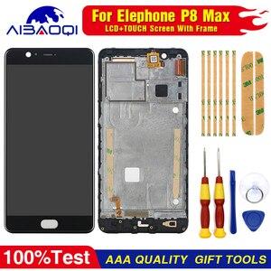 Image 1 - جديد الأصلي ل Elephone P8 ماكس شاشة تعمل باللمس LCD شاشة عرض LCD محول الأرقام الجمعية مع الإطار استبدال أجزاء 5.5 بوصة