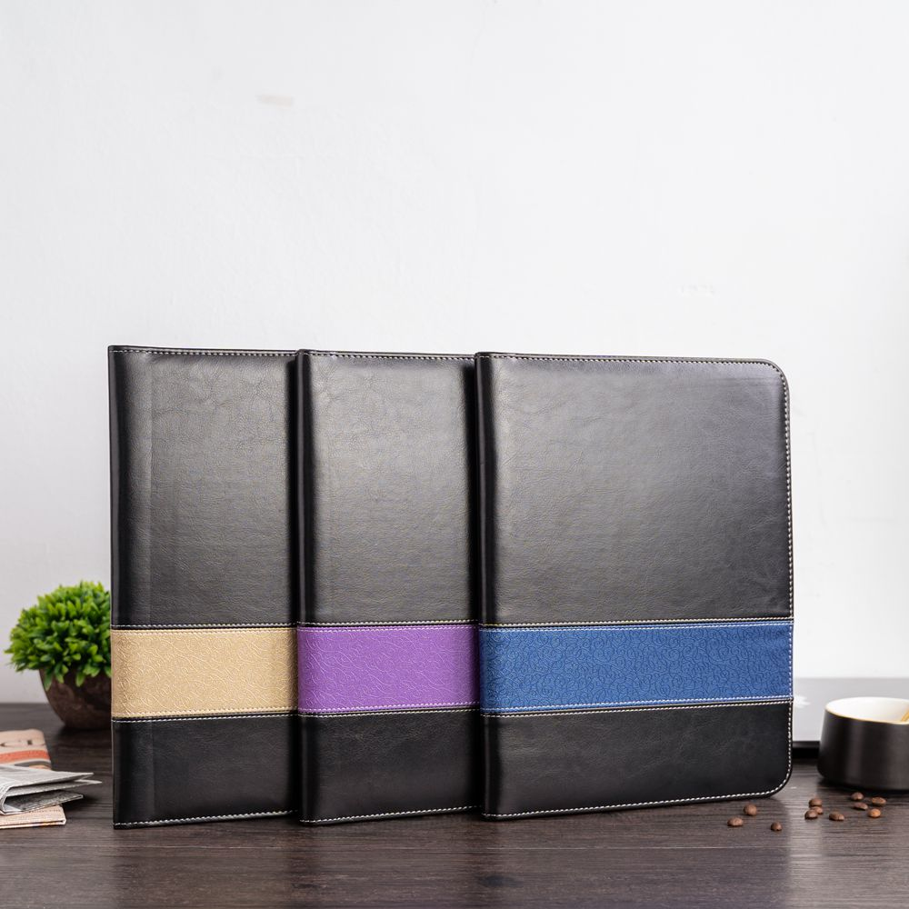 A4 Business Padfolio Portfolio PU Leather Document Organizer Business Conference File Folder Manager