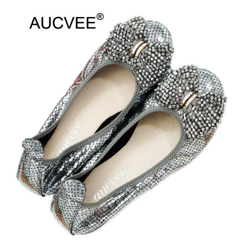 Offre spéciale en cuir véritable femmes Ballet chaussures plates taille 43 femmes sans lacet doux chaîne perle Bow bateau chaussures femmes chaussures plates mocassins