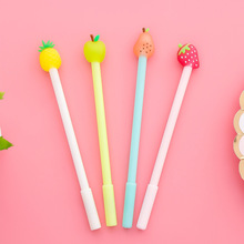 Korean Creative Fruit Pie Neutral Pen Cute Cartoon Writing Style Signature Student Stationery Office Supplies