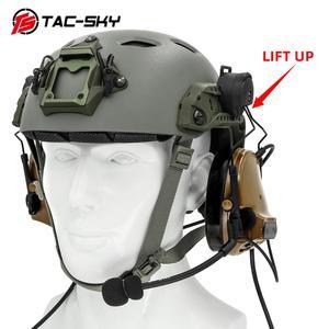 Image 5 - TAC SKY COMTAC tactical stand headset comtac iii doppio passaggio del silicone paraorecchie casco del basamento militare walkie talkie auricolare tattico