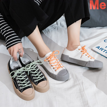 Women Shoes 2020 Summer New Fashion Casual Flats Female Canvas Classic Solid Color Woman Breathable Trendy Sneakers