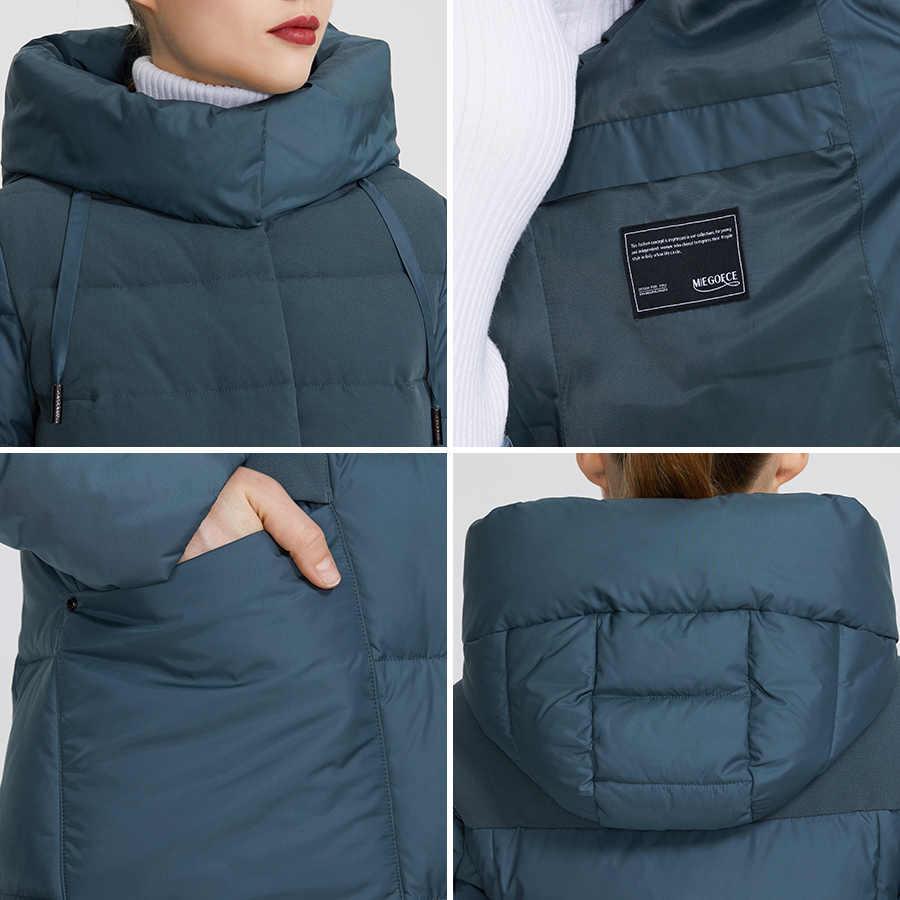 MIEGOFCE 2019 la nueva colección de Invierno para mujer abrigos de invierno diseño insólito está hecho de dos telas que chaquetas