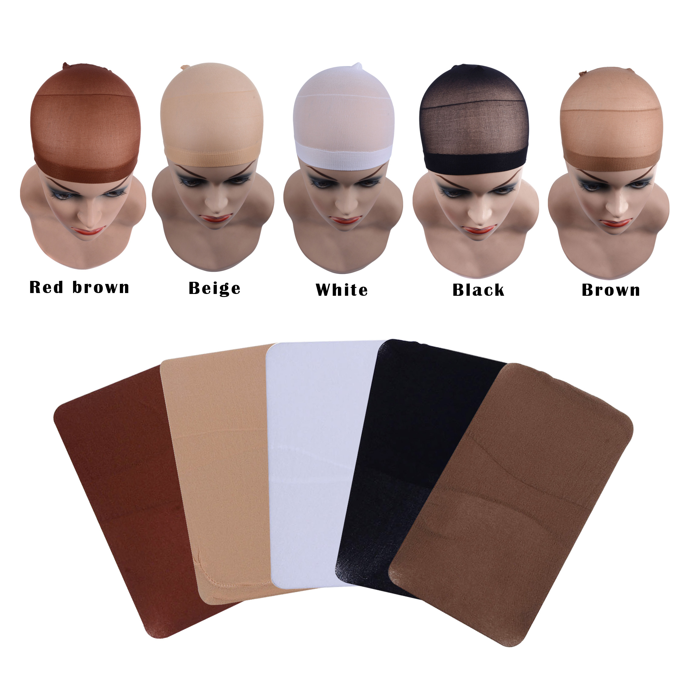 36pcs/(18bag) Hair Mesh Wig Cap Hair Nets Wig Liner Hairnets Snood Glueless Dome Wig Cap  Stretchable Elastic Hair Net