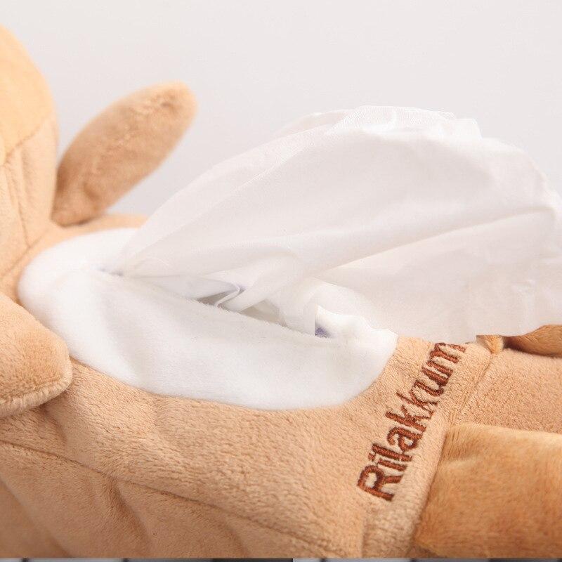 Car Mounted Cartoon Tissue Bag Cartoon Plush Tissue Bag Car Household Tissue Dispenser Tissue Box R-21903