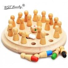Детская Деревянная шахматная игра с памятью, 3D пазлы, настольная игра, обучающая цветная игрушка для животных с когнитивными способностями, рождественские подарки