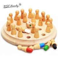 Kinder Holz Speicher Schach Spiel Stick Schach Spiel 3D Puzzles Bord Spiel Pädagogisches Farbe Tier Kognitiven Fähigkeit Spielzeug Geschenke