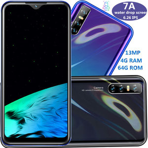 7A smartphones 4G RAM 64G ROM quad core 13MP 19:9 6.26INCH water drop screen android mobile phones face ID unlocked celulares 3G