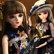 UCanaan 1/3 BJD Doll 18 Ball Jointed Dolls With Full Outfits Upgraded Makeup Maxi Dress Wigs Best Gifts For Girls Collection