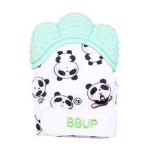 Silicone Teether 1pc Animal Baby Teething Glove Panda Wrapper Sound Teething Chewable beads Newborn Toddler Food Grade(China)