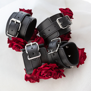 Adult Games Gothic Rose Handcuffs BDSM Bondge Male Handcuff Wrist Ankle Cuff Gay Fetish Slave Restraints Sex Toys For Woman Men 4