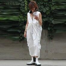 SuperAen Europe Sleeveless Dress Women Cotton Fashion Casual Ladies Dre