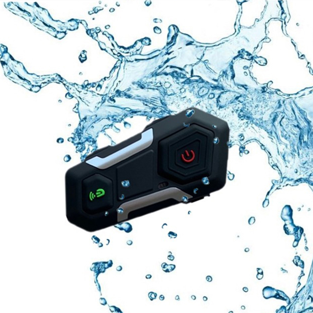 New Waterproof  Motorcycle Intercom Helmet Headset Helmet Speaker Interphone Moto Headset Wireless Intercomunicador 1200M T10S