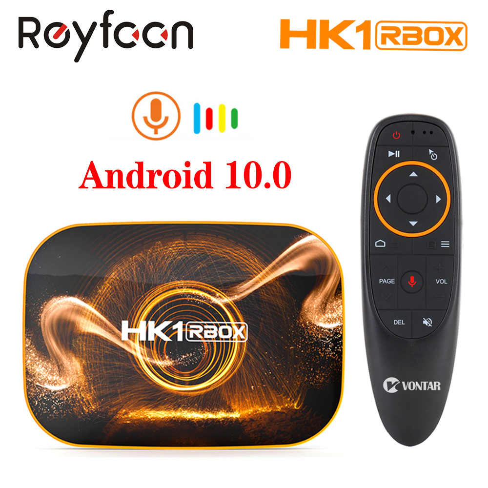 HK1 RBOXสมาร์ททีวีกล่องAndroid 10.0 2G 4G RAM Rockchip RK3318 2.4G 5G Dual Wifi 4K Google Player Store Youtube Media Player TVBOX