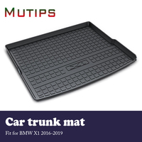 Mutips 1Set Car Cargo rear trunk mat For BMW X1 F48 2016 2017 2018 2019 Car styling Waterproof carpet Anti slip mat Accessories