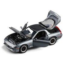 Cadeau exquis 1:32 Mazda RX7 sport voiture alliage modèle, simulation métal porte son et lumière modèle, jouets pour enfants, livraison gratuite