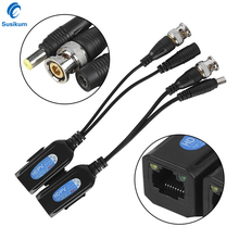 5Pairs CCTV Coax BNC Video Power Balun Transceiver Connectors to CAT5e 6 RJ45 Connector For Security IP Camera System