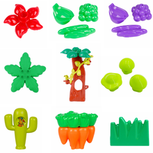 Diy Plant Big Tree Flower Grass Fruit Mushroom Duplo Bricks Moc Creative Model Building Blocks Accessories Toys for Children(China)
