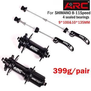 Image 1 - Bicycle Hubs Sealed Bearing MTB Mountain Bike Hubs Quick Release set 32 28 36Holes Disc Brake QR 4 Bearings 4 Pawls 399g ARC 006