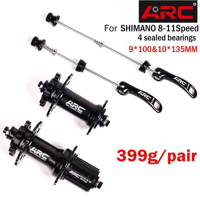 Bicycle Hubs Sealed Bearing MTB Mountain Bike Hubs Quick Release set 32 28 36Holes Disc Brake QR 4 Bearings 4 Pawls 399g ARC 006
