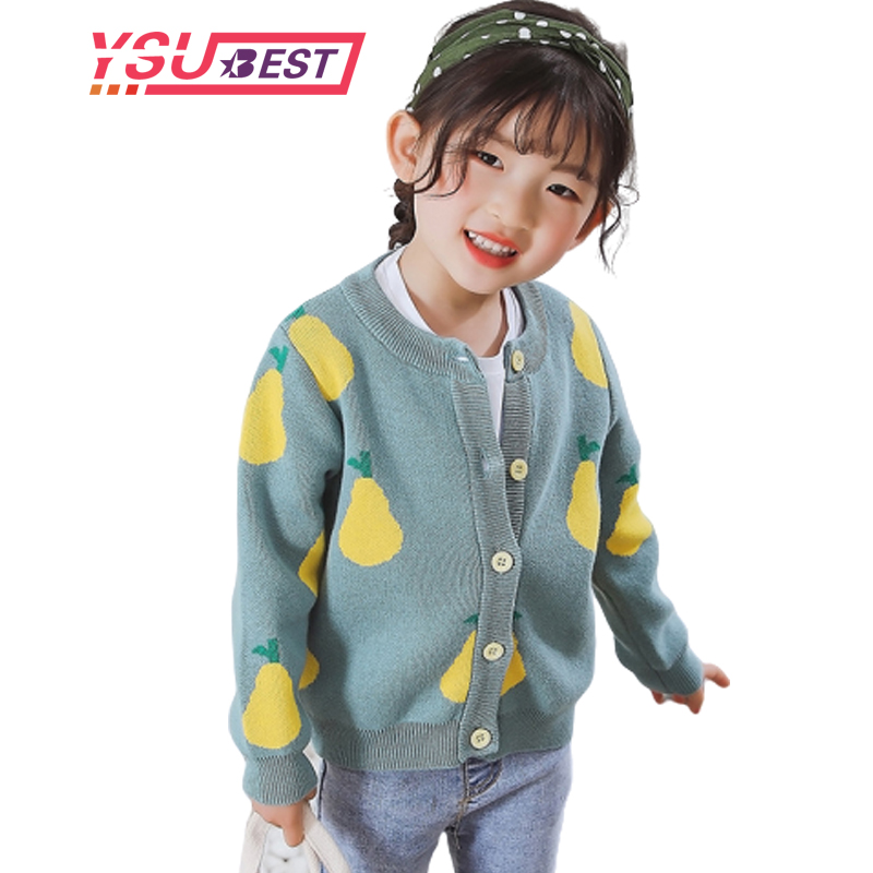 New Girl Cartoon Sweaters Baby Cotton Knit Cardigan Sweater Kids Long Sleeve Autumn Children Clothes Fashion Boy Girl Outer Wear 1