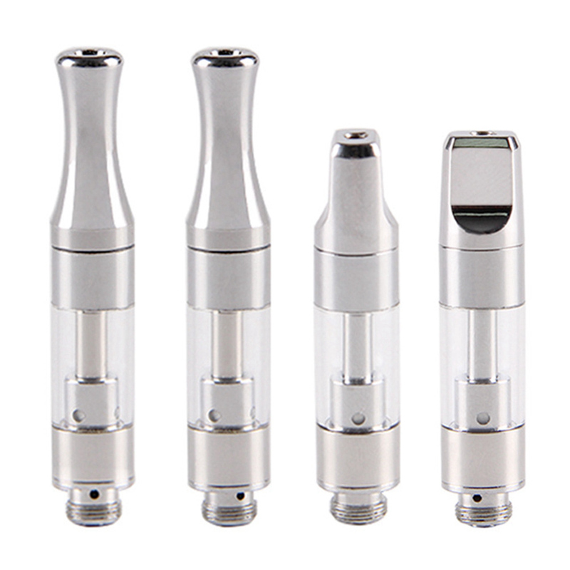 2pcs Vaporizer Tank Ceramic Coil Glass Vaporizer For 510 Thread Oil Vape Pen Cartridge Thick Vape CBD Cartridge With Metal Tip
