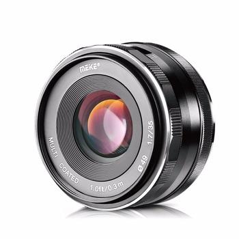 MEKE Meike 35mm f1 7 APS-C duża przysłona obiektyw z ręczną regulacją ostrości dla Fuji lustra kamery X-T3 X-T20 X-T2 X-E3 E2 E1 X-T2 X-Pro2 tanie i dobre opinie Stałej ogniskowej obiektywu Normalny obiektyw 49mm 2014 150g MK-F-35-1 7 F1 7--F22 sony mirrorless manual focus lens f 1 7