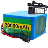 GTF 12V 30Ah 3S12P 11.1V 12.6V Lithium Battery Pack for Inverter Xenon Lamp Solar Street Light Sightseeing Car Etc + charger