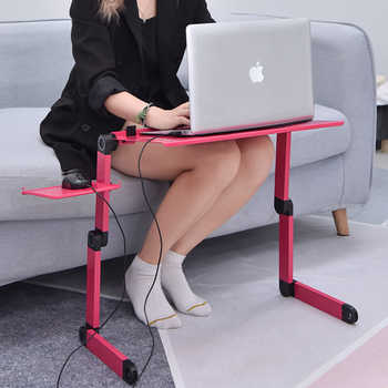 Foldable Table Portable Laptop Table Computer Adjustable Aluminum Laptop Stand Study Table Laptop Stand for Bed Folding Table
