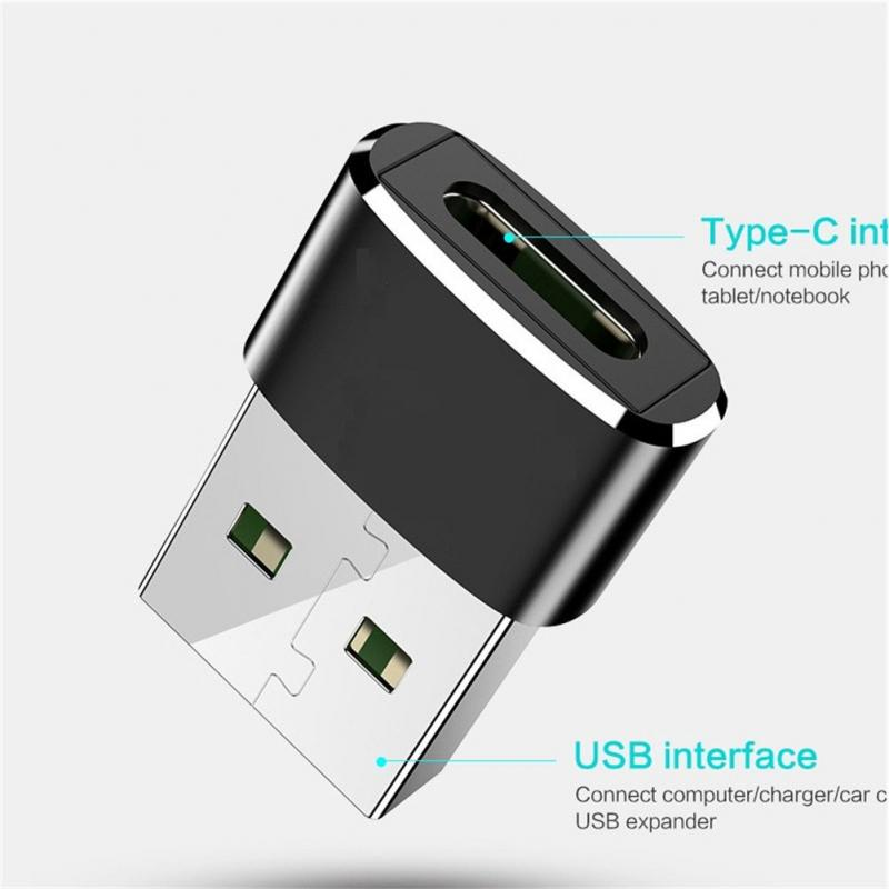 External To Type C Female OTG Connector Adapter USB 2.0 Male USB C Cable Mini Adapter