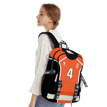 Anime Haikyuu Backpack Student Zipper Bag School Backpack Backbags Teen College Bags Teens Boys Girls Women Men 3d Printed anime black butler cosplay backpack anime two elementary elementary junior high school student bag girls shoulder bag backpacker