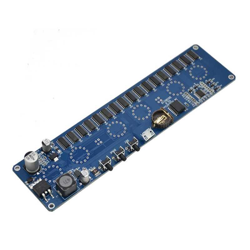 AMS-bricolage In14 In4 Nixie Tube Horloge horloge LED numérique Cadeau Kit de carte de Circuit, Pas de Tubes